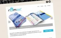 A nova página da romset apresenta um webdesign responsivo
